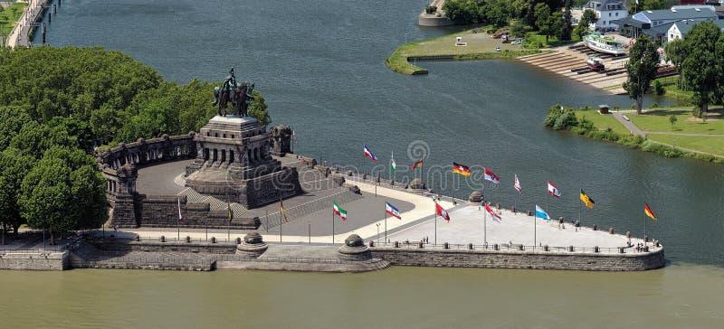 deutsches narożnikowy eck niemiecki Germany Koblenz obraz stock