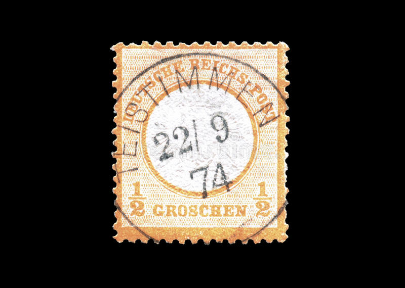 Deutsches Reich stamp 1872. Postage stamp printed by Germany 1872 stock image