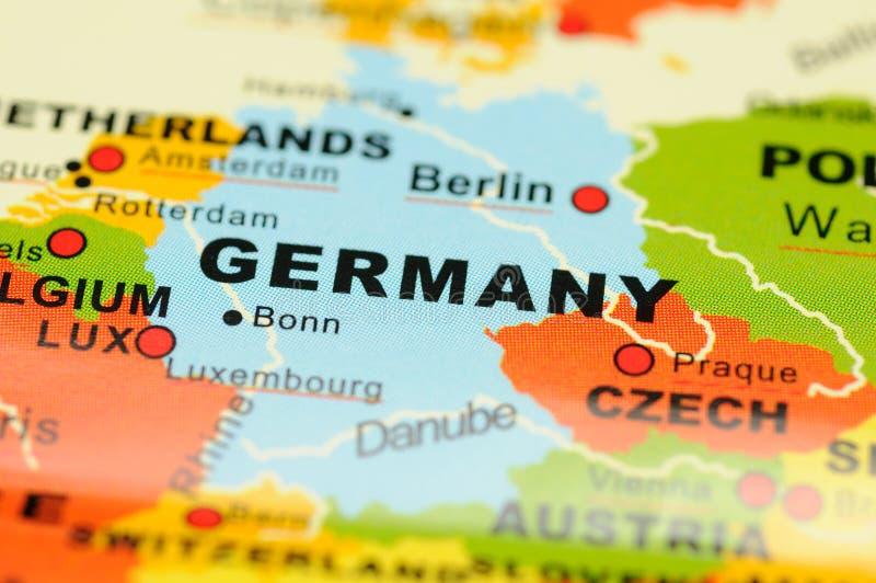 Deutschland auf Karte stockbilder