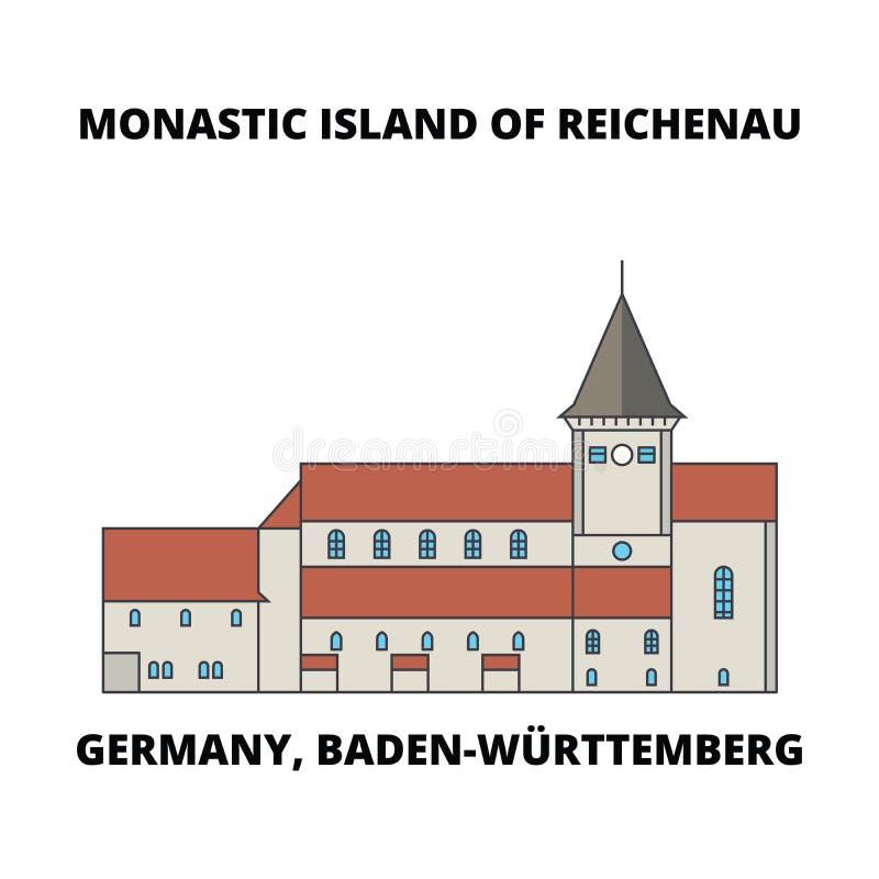 Deutschland, Baden-Wurttemberg, klösterliche Insel von Reichenau-Linie Ikonenkonzept Deutschland, Baden-Wurttemberg, klösterliche stock abbildung
