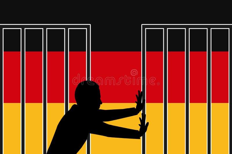 Deutschland begrüßt Flüchtlinge stock abbildung