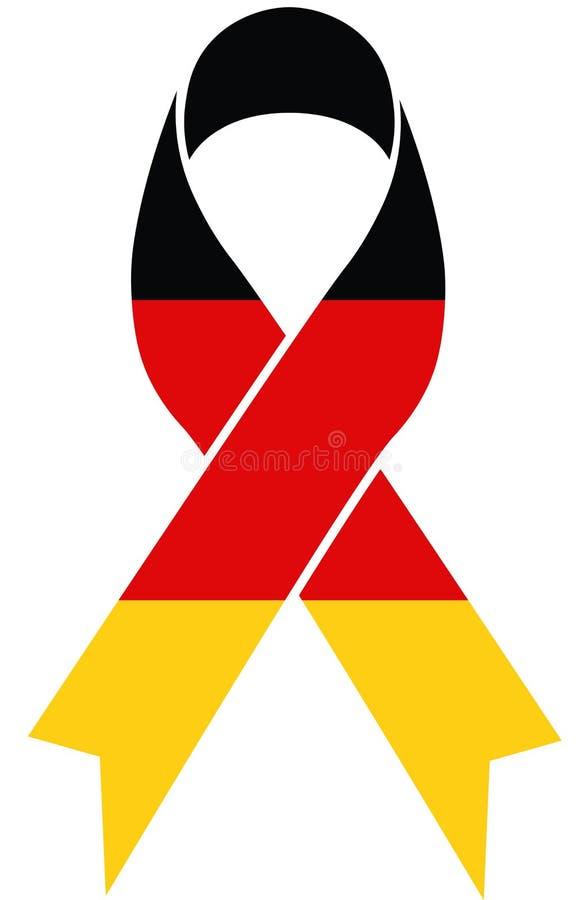 Deutschland-Beileidband mit deutschen Flaggenfarben stock abbildung