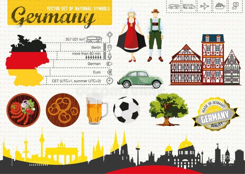 Deutschland des Reiseführers vektor abbildung