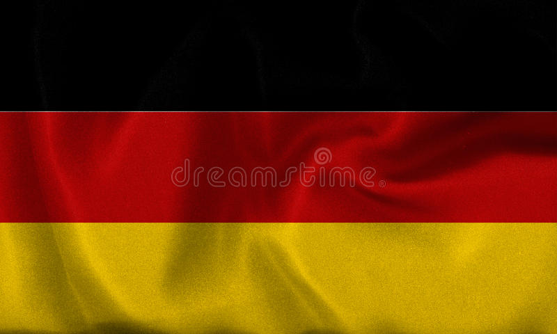 Deutschland, Duitsland vlag stock illustratie