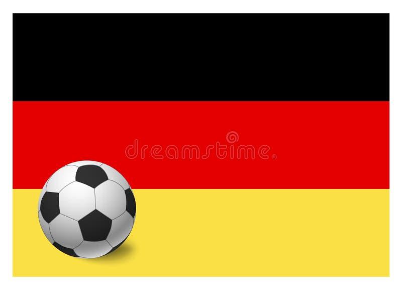 Deutschland-Flagge und -Fußball stock abbildung