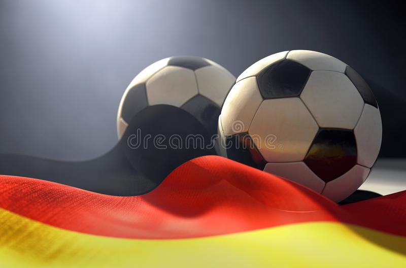 Deutschland-Flagge und -Fußball lizenzfreie abbildung