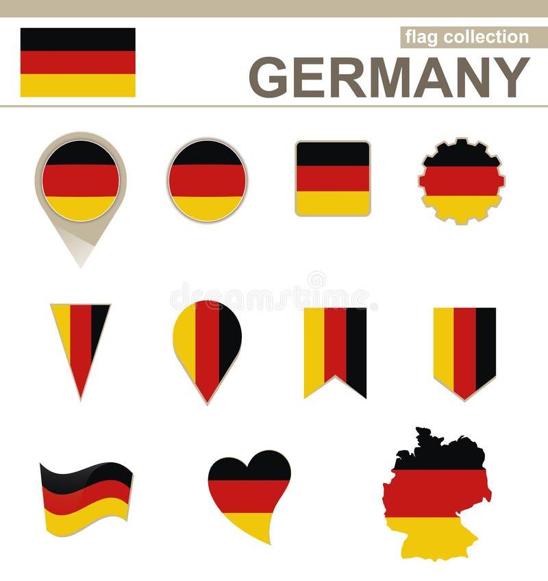Deutschland-Flaggen-Sammlung stock abbildung