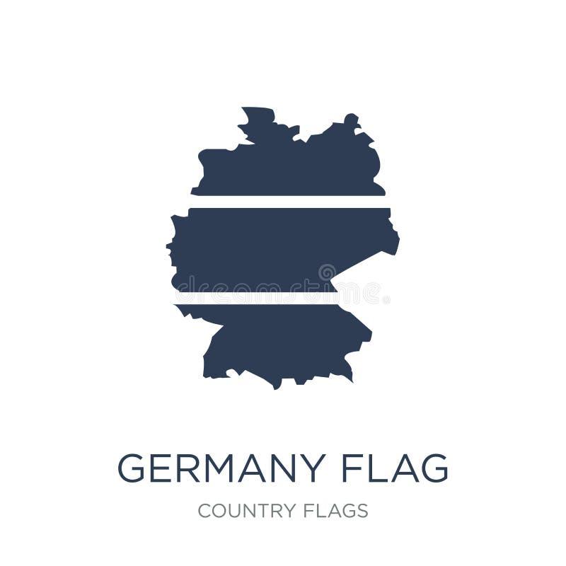 Deutschland-Flaggenikone  lizenzfreie abbildung