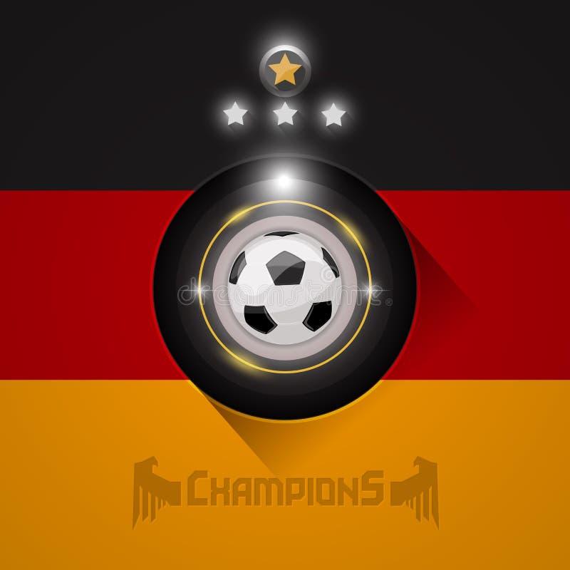 Deutschland-Fußball verficht Flaggensymbol stock abbildung
