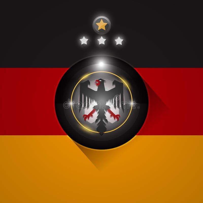 Deutschland-Fußballflaggensymbol vektor abbildung