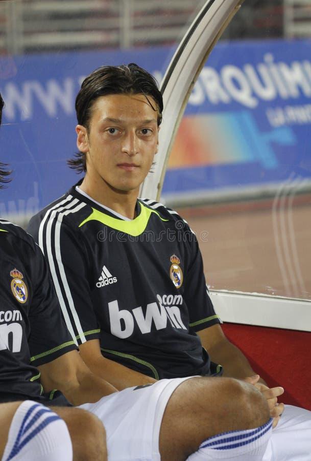 Deutschland-Fußballspieler Mesut Ozil während eines gameplay in Mallorca lizenzfreies stockbild