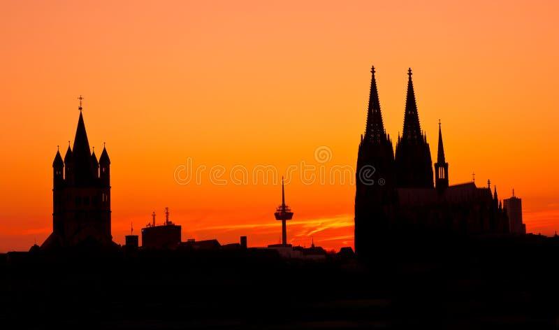 Deutschland, Köln, Skyline lizenzfreies stockbild