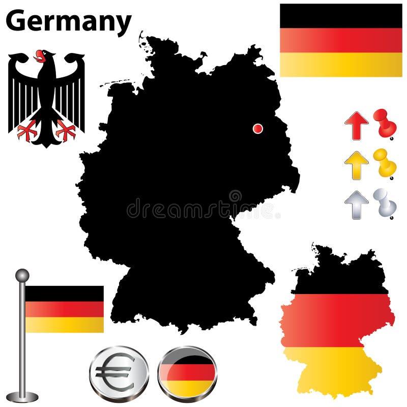 Deutschland-Karte vektor abbildung