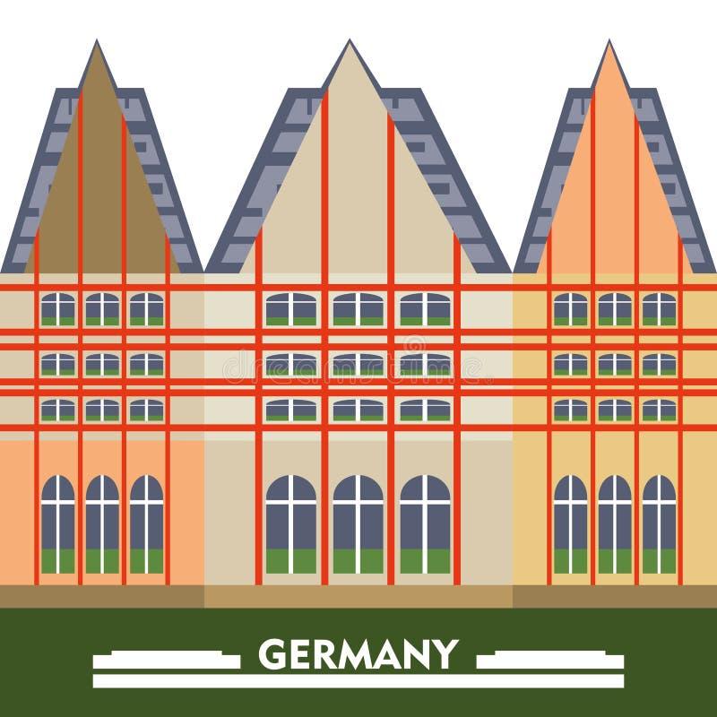 Deutschland-Konzept des Entwurfes lizenzfreie abbildung