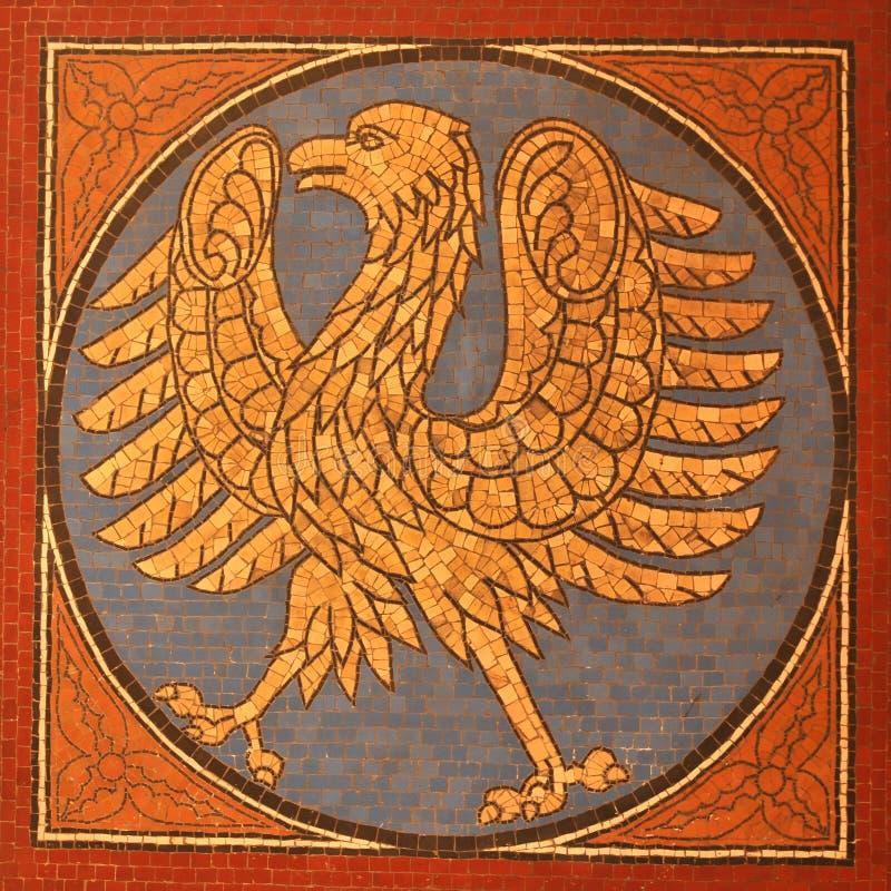 Deutschland. Medieval emblem in Berlin, Germany stock photos