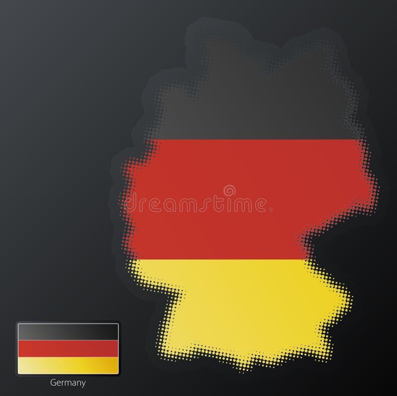 Deutschland-modernes Halbtonbild vektor abbildung