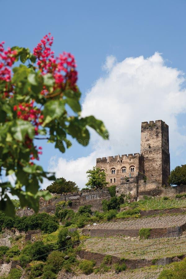 Deutschland, Rheinland, Ansicht von Burg gutenfels zieht sich zurück stockfoto