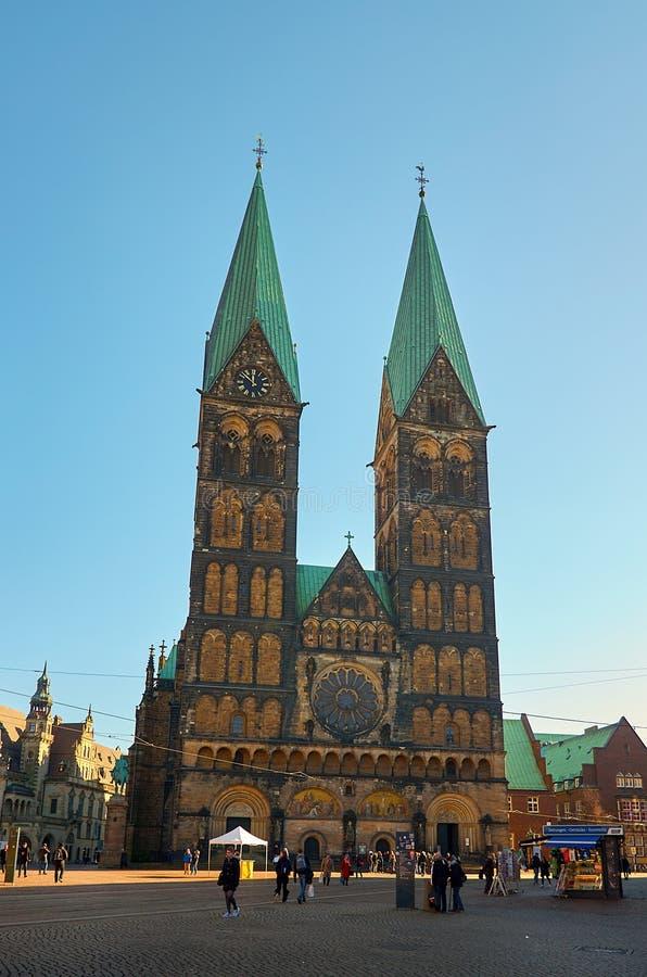 deutschland St- Peter` s Kathedrale in Bremen 14. Februar 2018 lizenzfreies stockbild