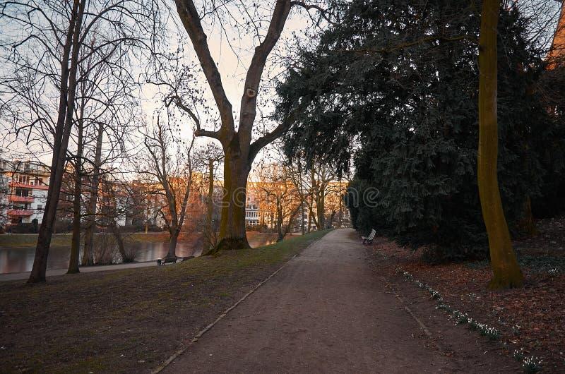 deutschland Vallanlagen-Park in Bremen 14. Februar 2018 stockfotos