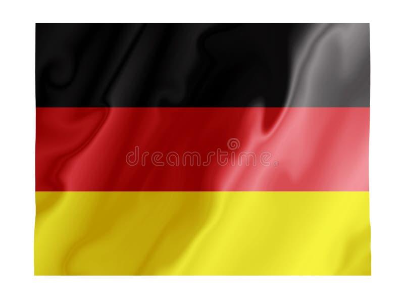 Deutschlandflattern lizenzfreie abbildung