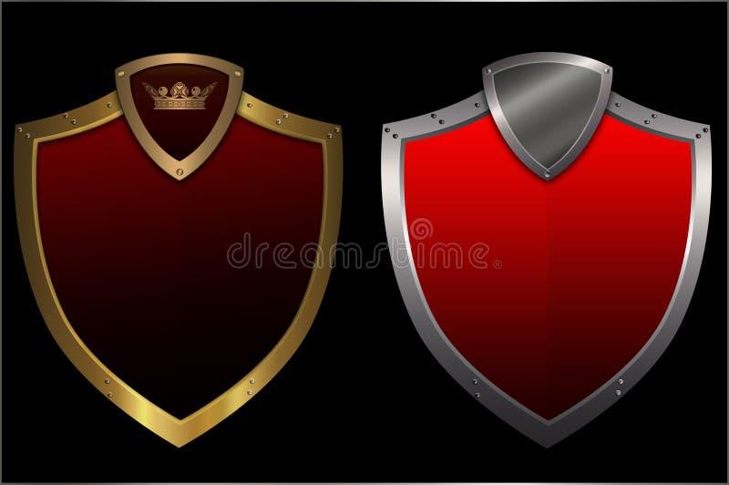 Deux écrans protecteurs. illustration de vecteur