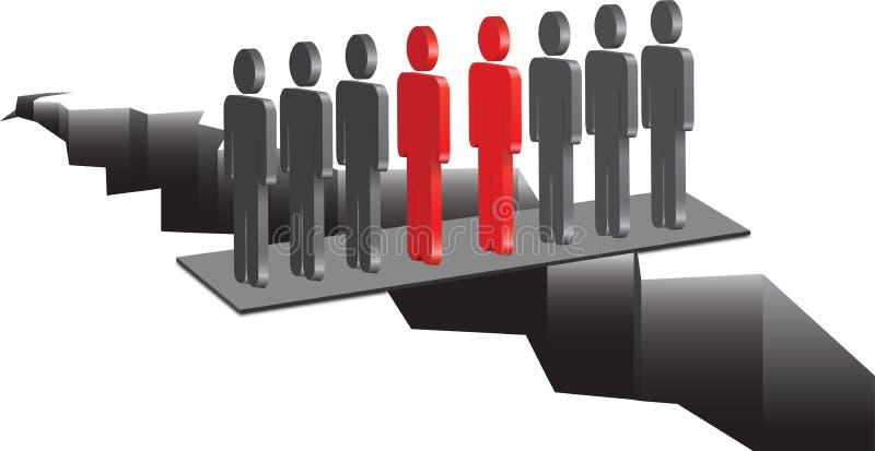 Deux équipes lors d'une réunion illustration libre de droits