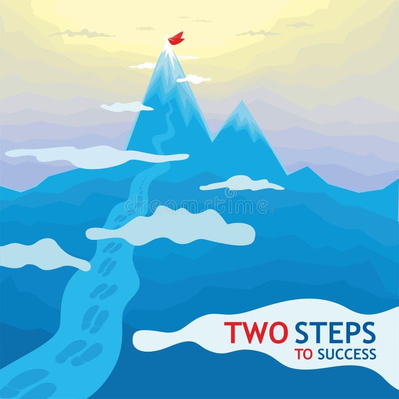 Deux étapes au succès - montagnes photos stock