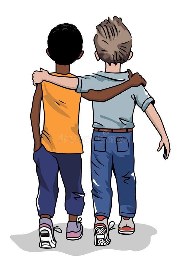 Deux amis illustration de vecteur