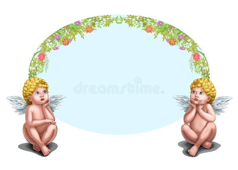 Deux anges illustration libre de droits