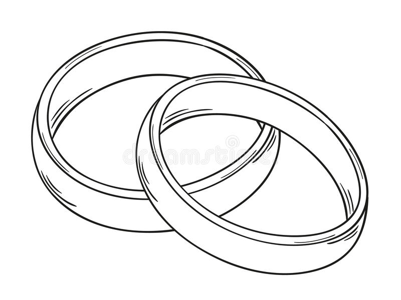 Deux anneaux illustration de vecteur