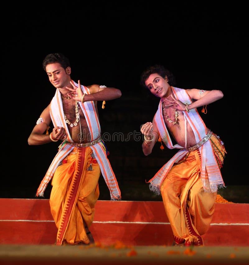 Deux artistes mâles indiens photo stock