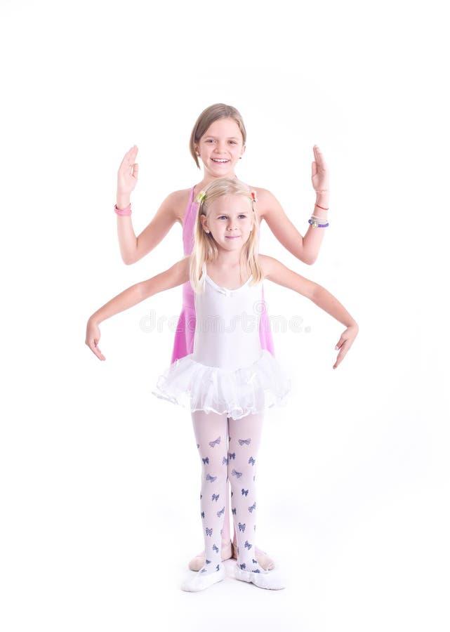 Deux ballerines mignonnes images libres de droits