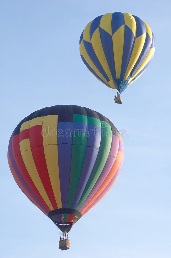 Deux ballons à air chauds images libres de droits