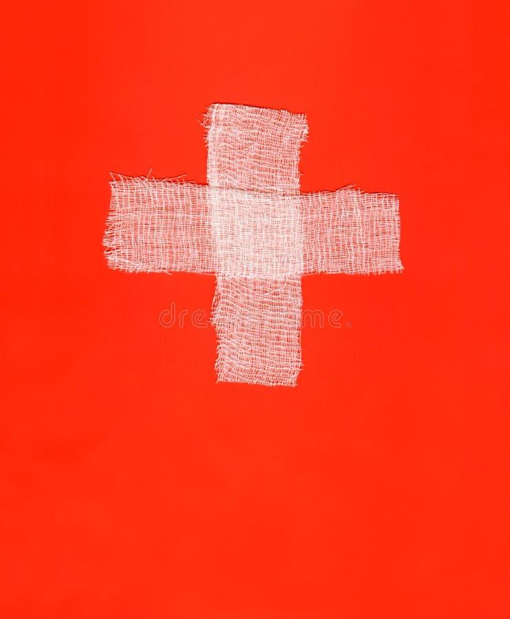 Deux bandages blancs image libre de droits