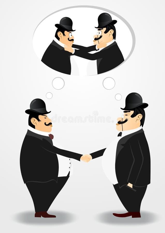 Deux banquiers se serrant la main illustration libre de droits