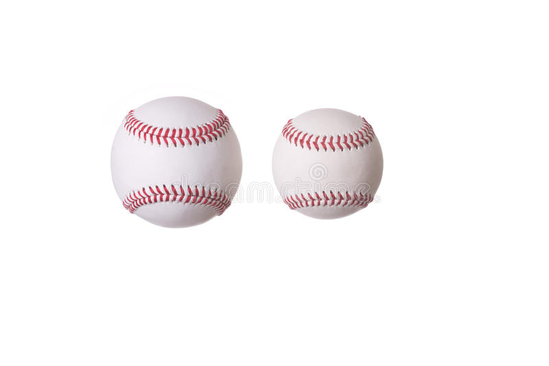 Deux base-ball photo libre de droits