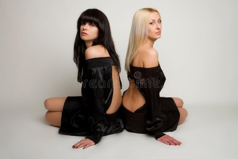 Deux belles filles photographie stock