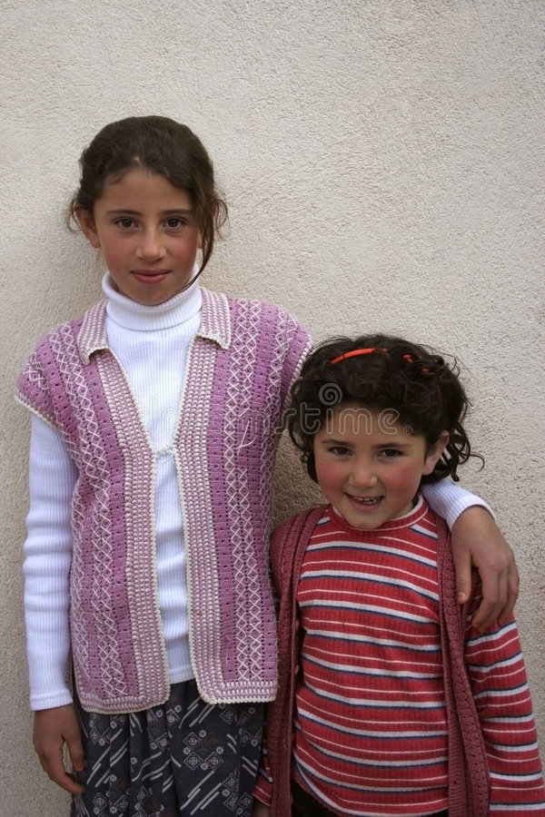 Deux belles filles image libre de droits