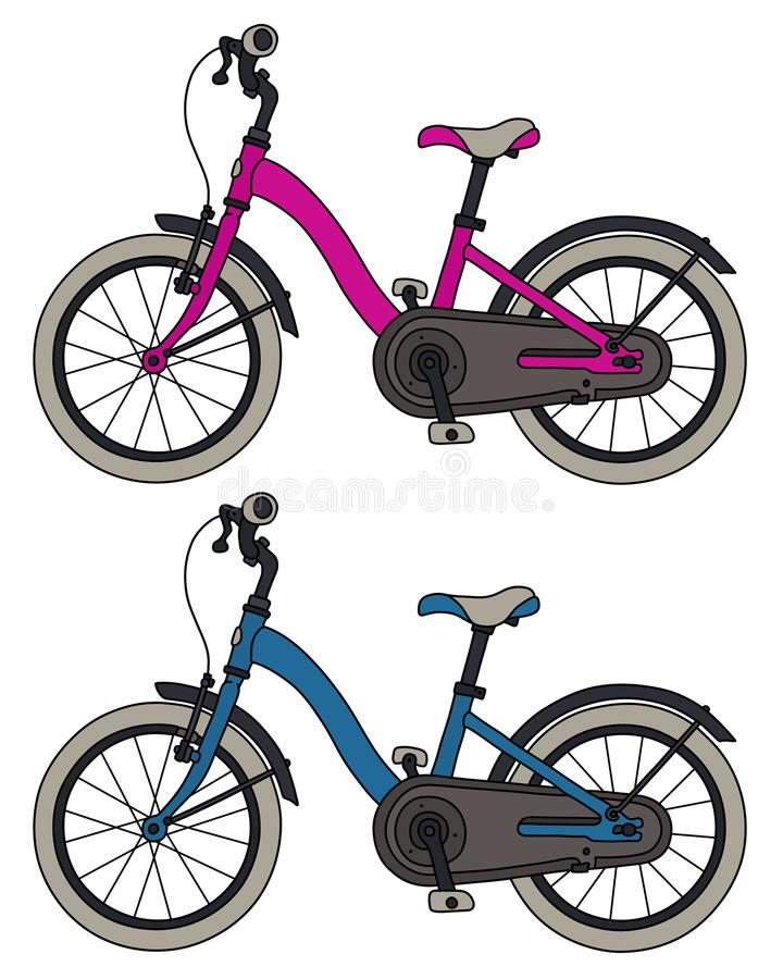 Deux bicyclettes d'enfants illustration stock