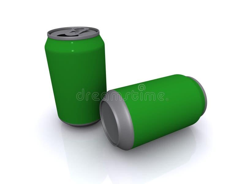 Deux bidons de bière verts images libres de droits