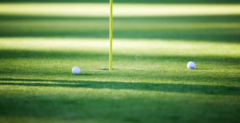 Deux billes de golf photo libre de droits