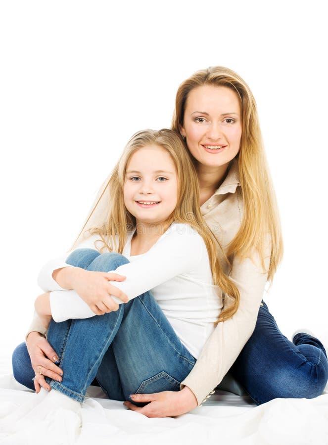 Deux blondes : mère et fille images libres de droits