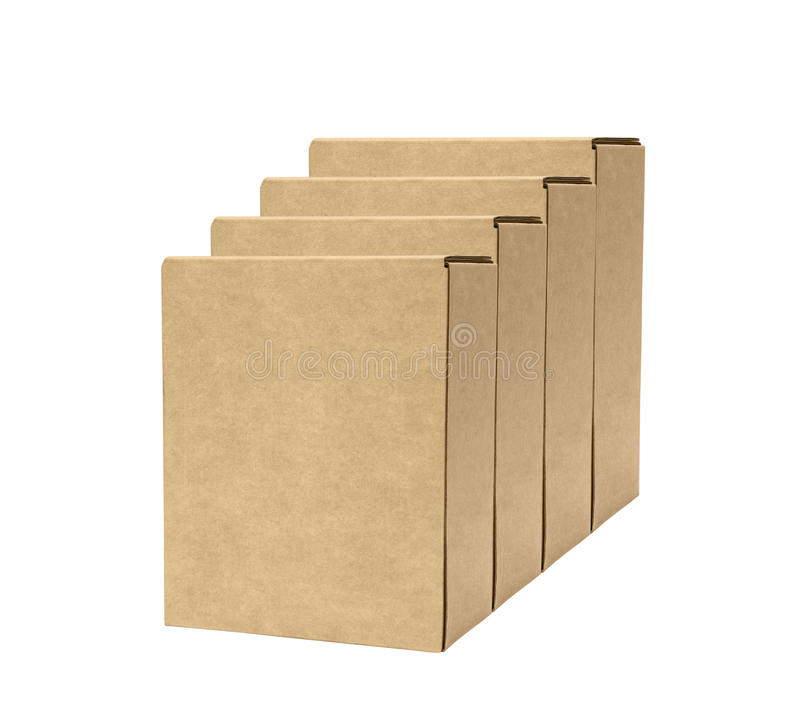 Deux boîtes en carton image stock