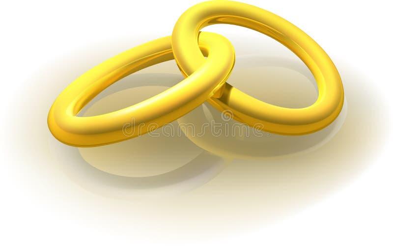 Deux boucles d'or illustration libre de droits