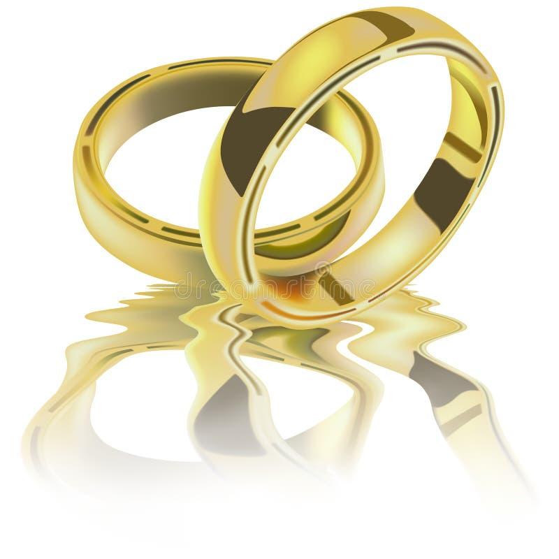 Deux boucles de mariage illustration libre de droits