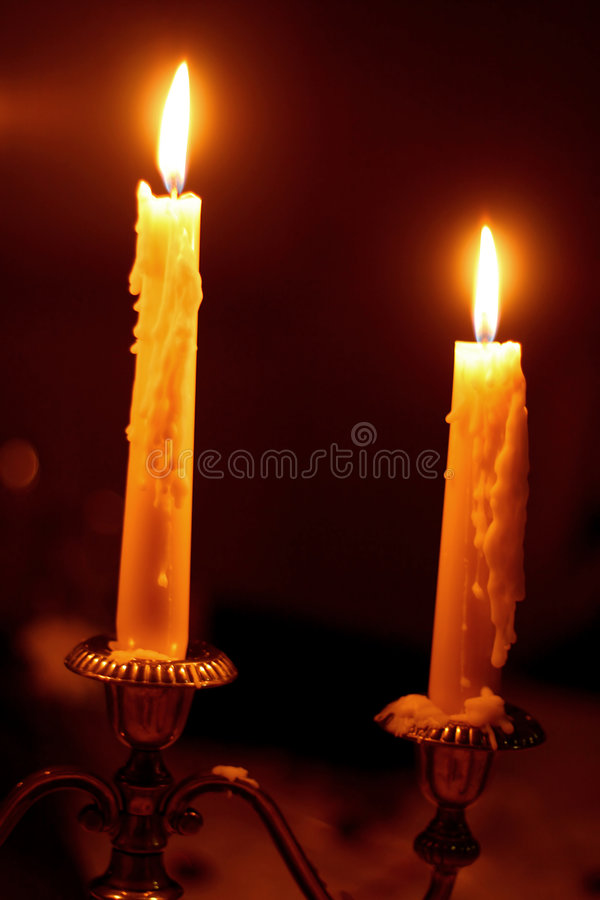 Deux bougies images libres de droits