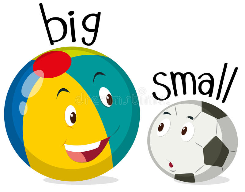 Deux boules une grandes et une petite illustration stock