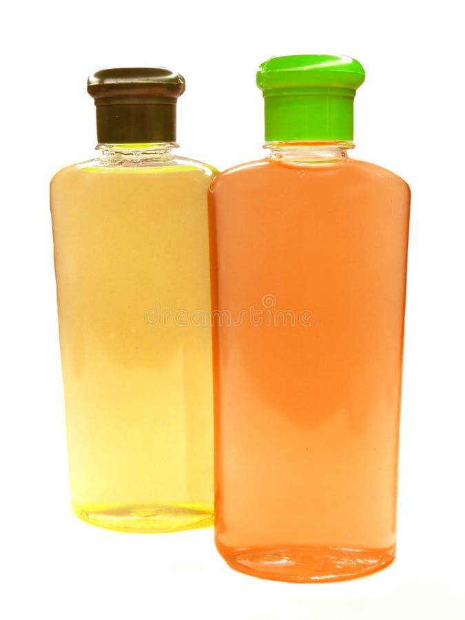 Deux bouteilles de shampooing photo libre de droits