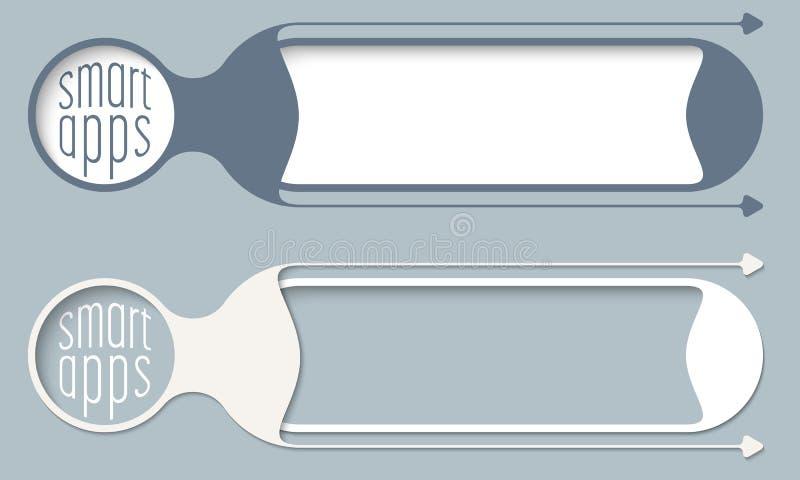 Deux boutons de vecteur illustration de vecteur