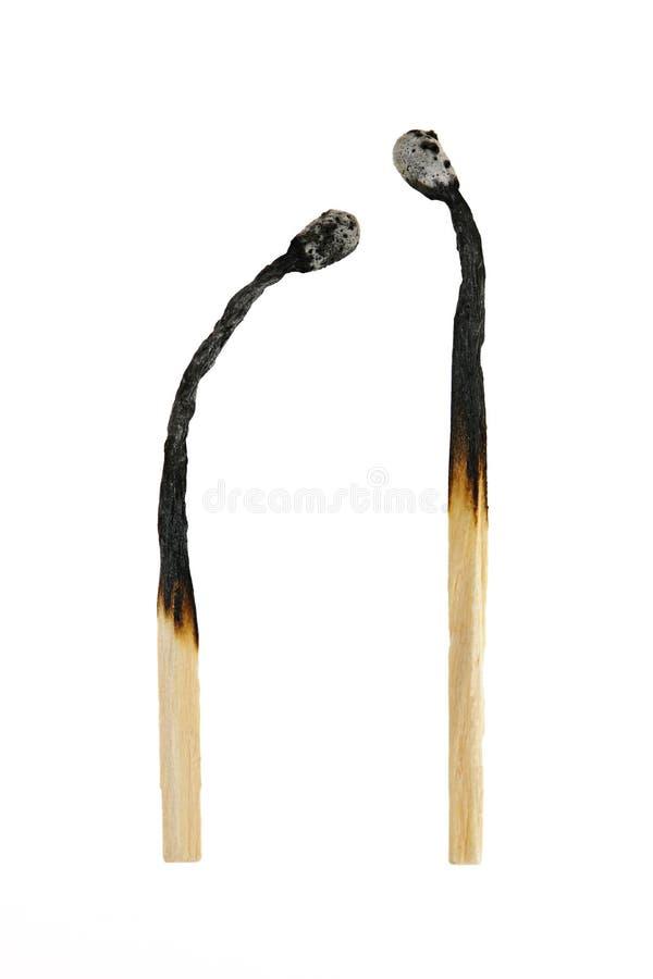 Deux brûlés à l'extérieur s'assortit photographie stock libre de droits